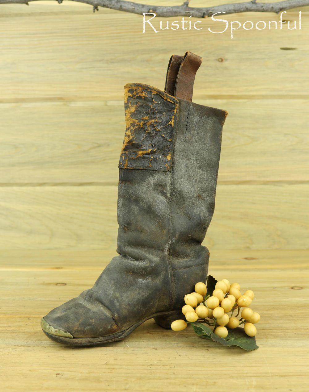 Vintage Children\'s Cowboy Leather Boot, Antique Cowboy Boots, Old ...