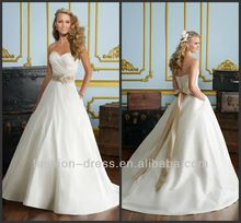 Le Sweetheart Organza Rose Gold Sash Beading Mermaid Dressesdesigner Wedding
