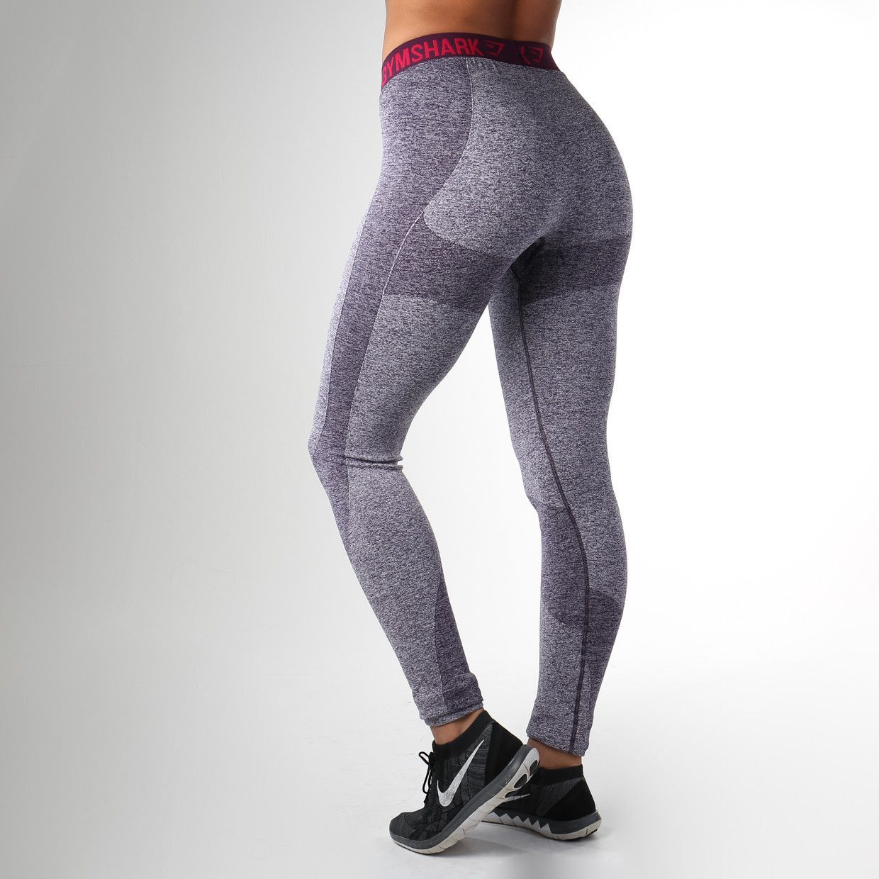 4a3d6360251576 Gymshark Flex Leggings - Blackberry Marl/Plum | Get Fit | Get Fine ...