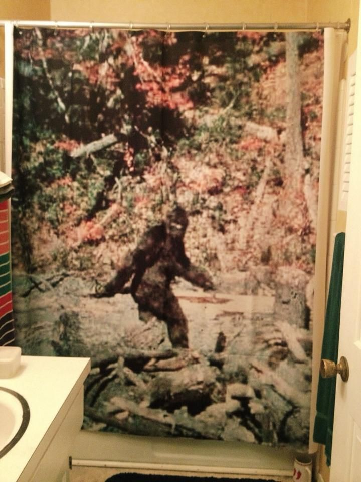 What Home Doesn T Look Classier With A Bigfoot Shower Curtain Painting Home Shower Curtain
