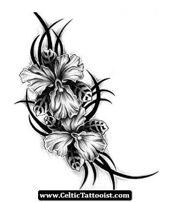 Celtic Flower Tattoos Google Search Tribal Flower Tattoos White Flower Tattoos Black Flowers Tattoo
