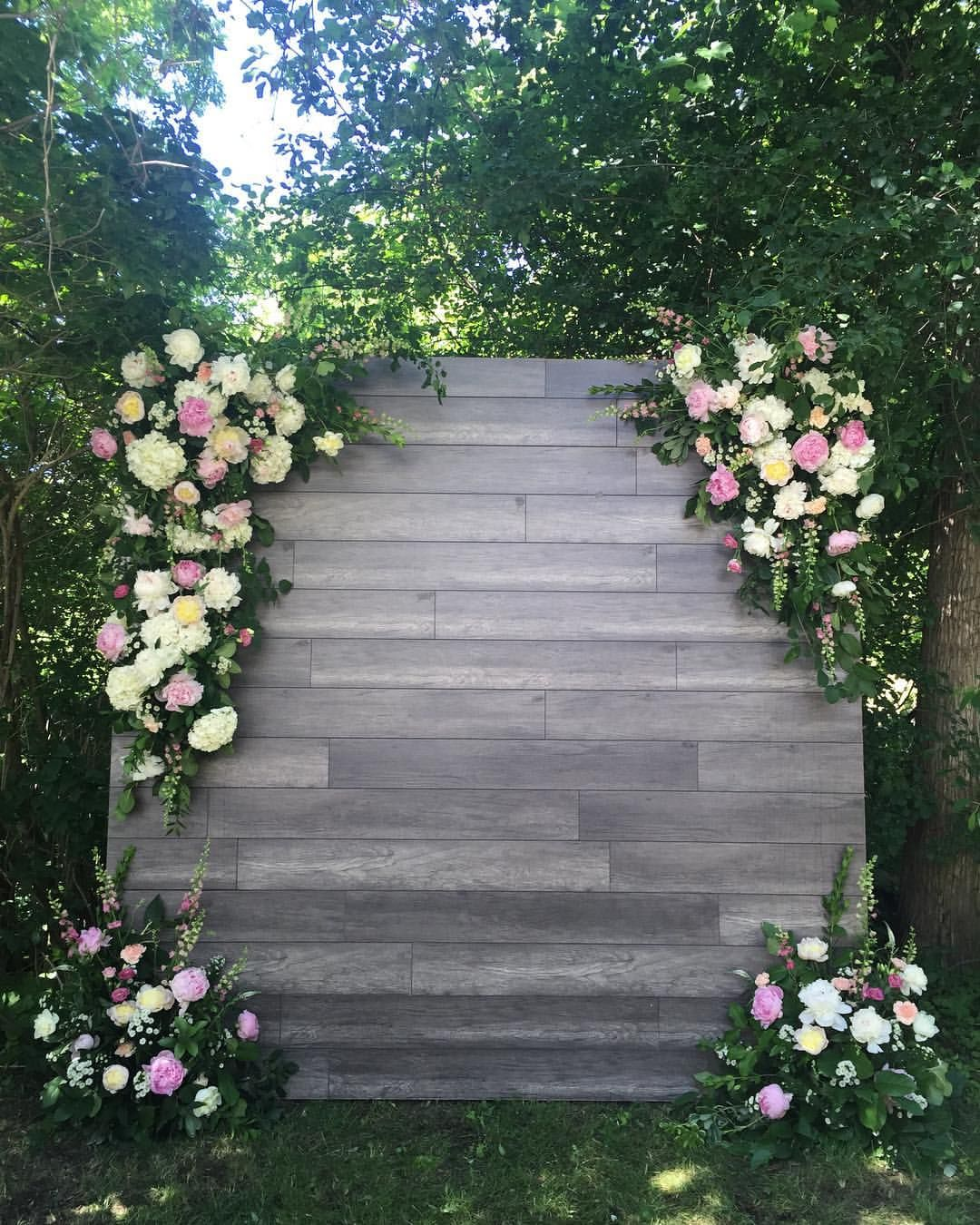 wedding flower wall diy