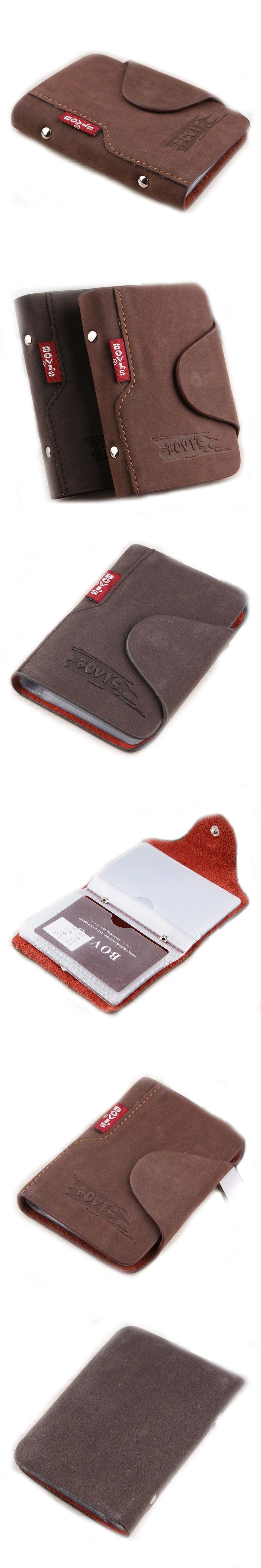 BOVIS 1pc Genuine Leather Business Cards Holder Credit Card Cover ...