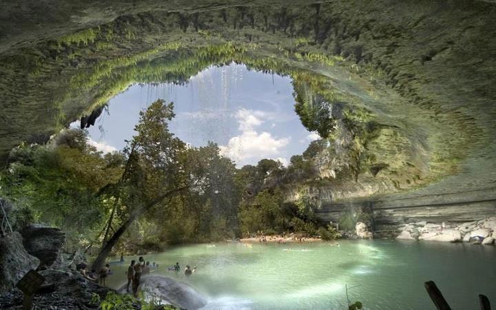 The Hamilton Pool Nature Preserve in Texas
