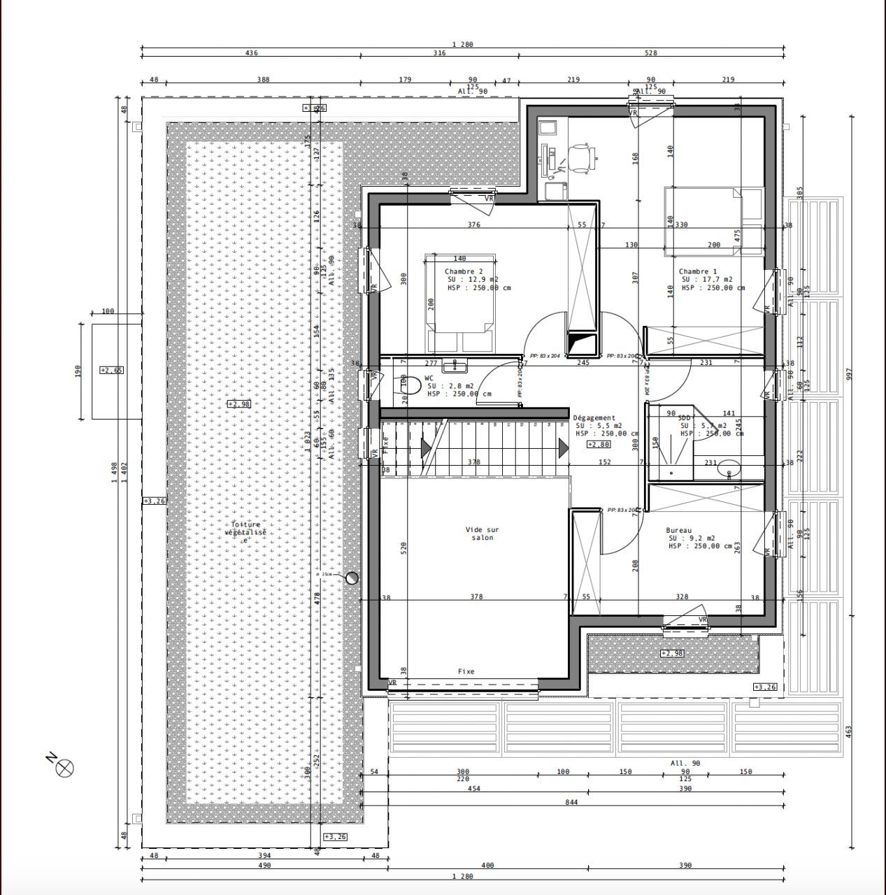 avis sur plan de notre future maison cubik de 200m2 67 messages page - Plan Maison Plain Pied 200m2