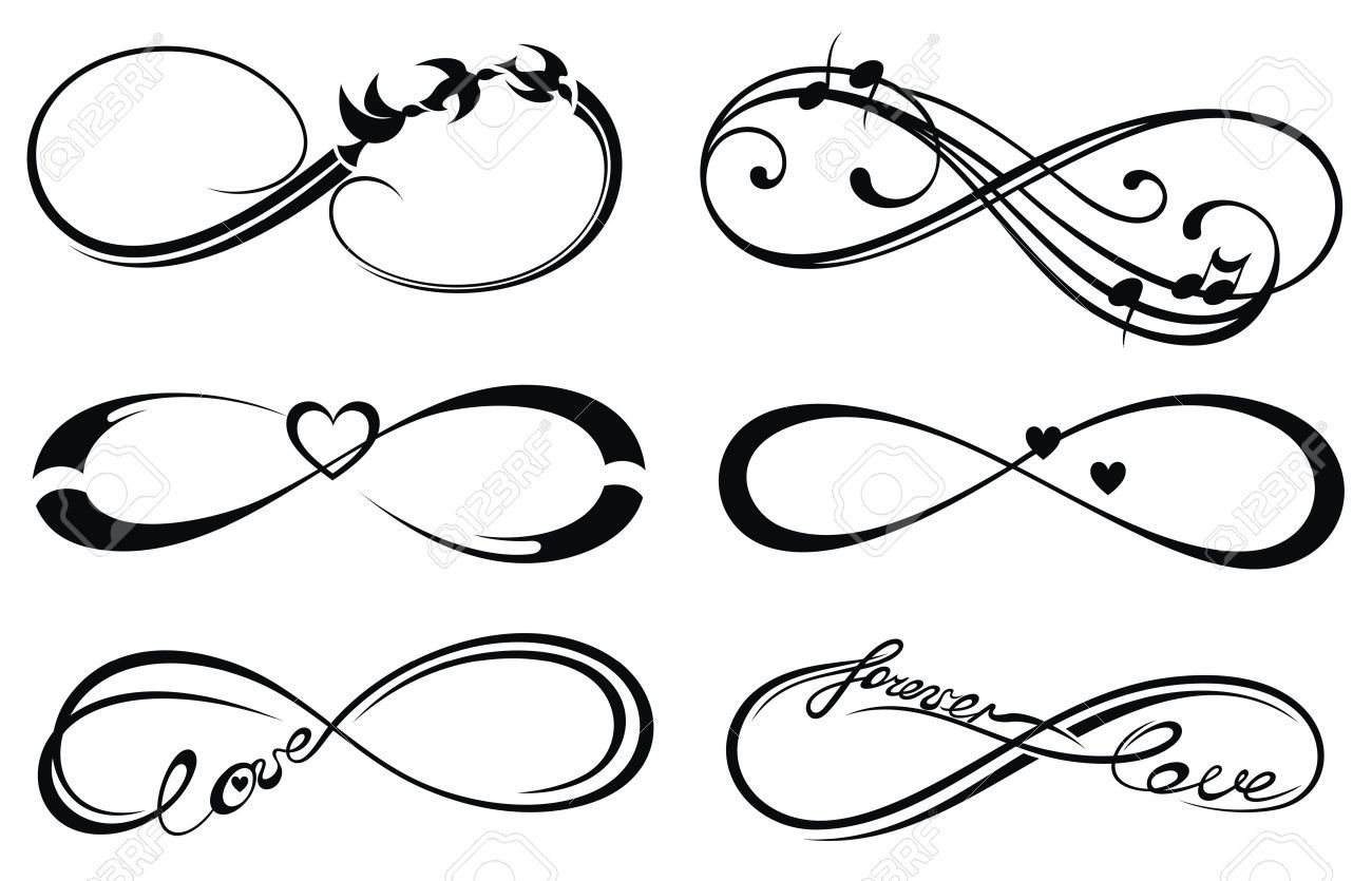 amour infini toujours symbole clip art libres de droits. Black Bedroom Furniture Sets. Home Design Ideas