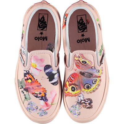 Vans x Molo 5 Kids Slip On Pink | Girl's clothes (Beyond