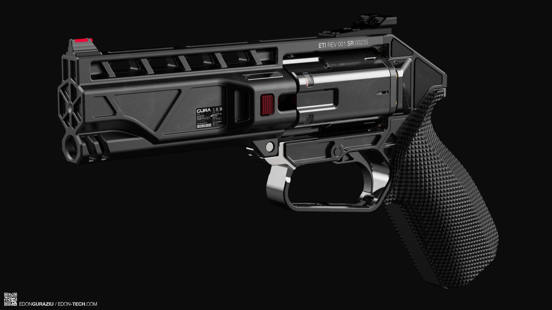 ArtStation - ETI / REV001 Modern Revolver Concept Design ...