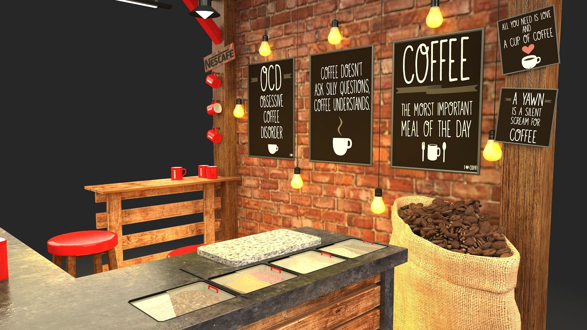 Nesacafe Coffee Booth Nescafe Coffee Nescafe Starting A Coffee Shop