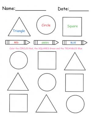 Coloring Shapes Printable Lessons Shape Worksheets For Preschool Kindergarten Worksheets Classroom Printables