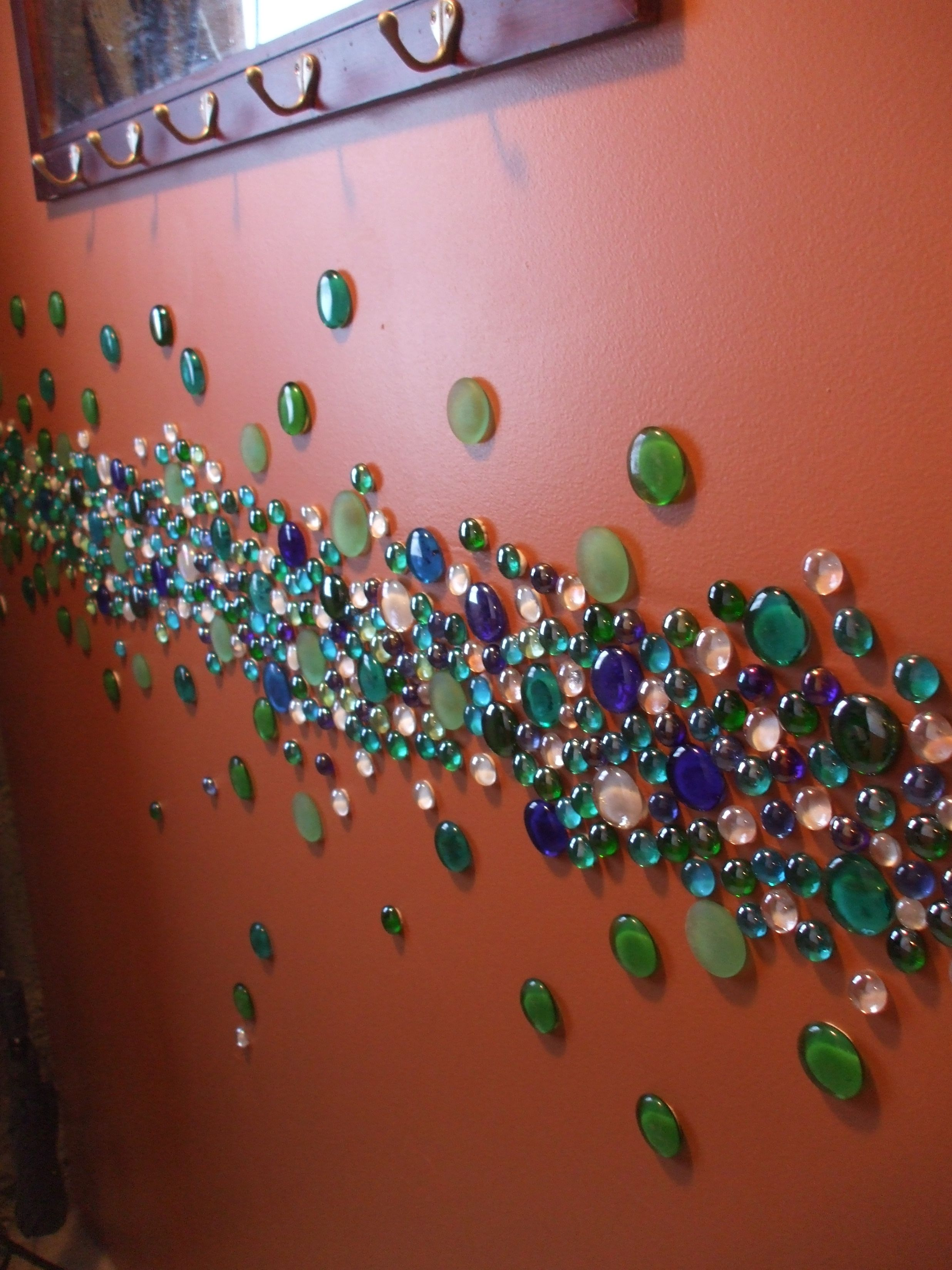 Flat pebbles for crafts - A Fun Way To Brighten A Wall With Flat Glass Pebbles