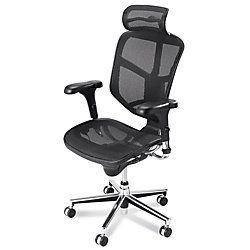 realspace pro quantum 9000 series mesh high back chair with