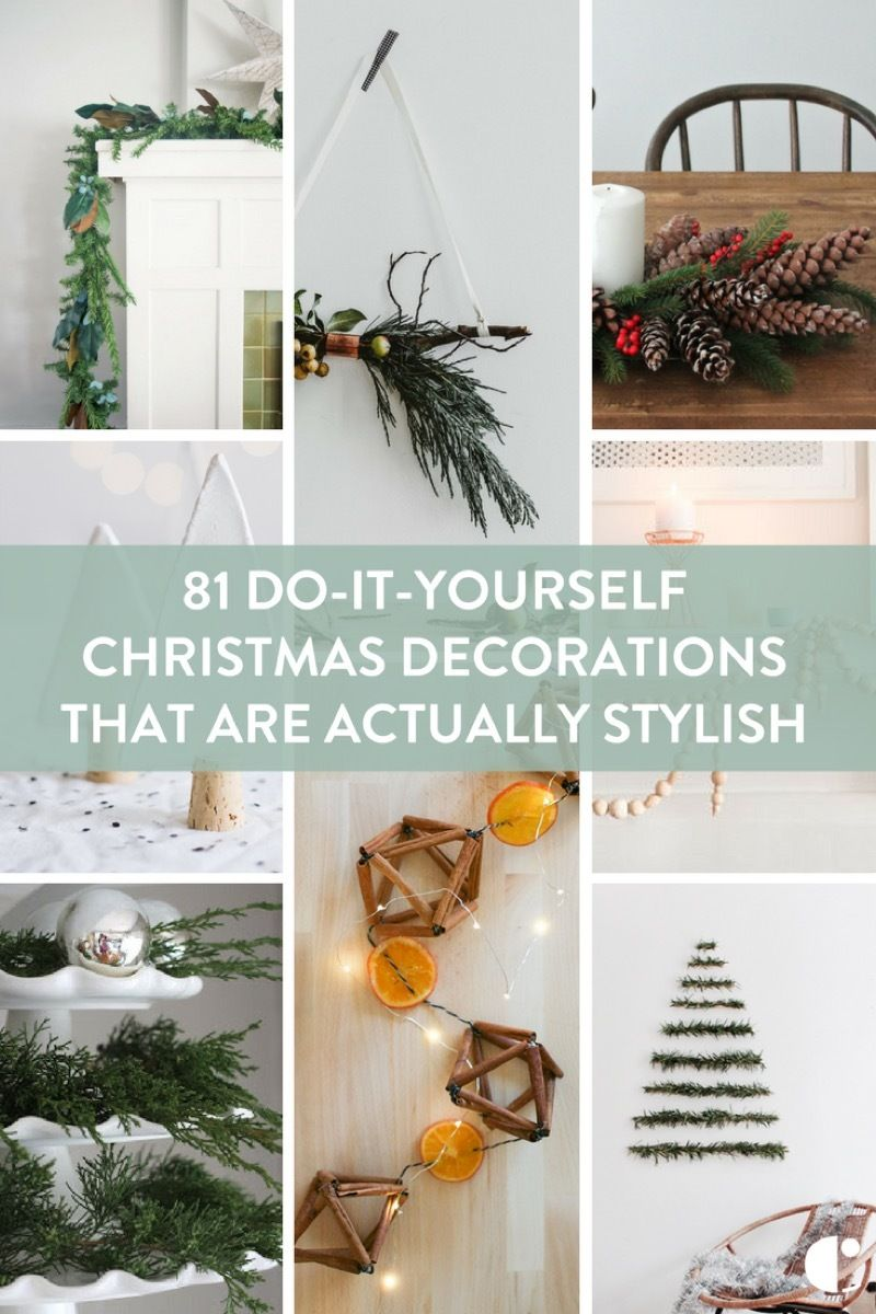 81 do it yourself christmas decorations that are actually stylish a mega round up of holiday projects you can do yourself and be proud of solutioingenieria Images