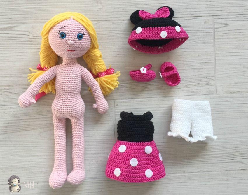 Muñeca Minnie amigurumi, ropita | amigurumis | Pinterest | Minnie ...