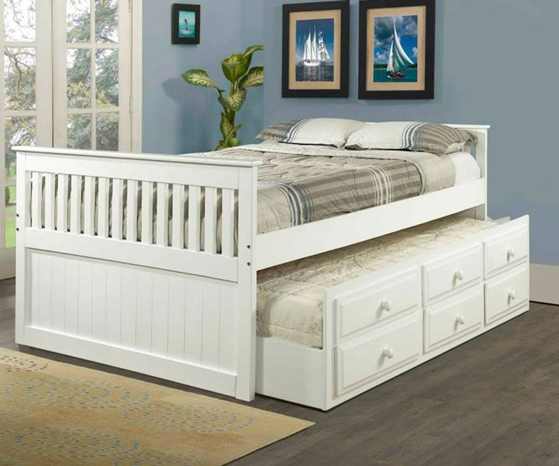 White full size trundle captains beds kids bedroom furniture Orlando Florida  Clearance  Donco trading brand. White full size trundle captains beds kids bedroom furniture