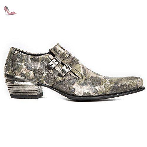New Rock , Bottes Motardes homme - noir - noir, 42 EU - Chaussures new