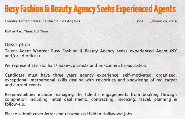 Hidden Hollywood Jobs Job Opening Job Los Angeles Jobs