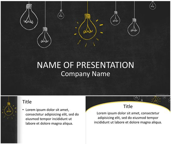 Light bulbs on blackboard powerpoint template alnacak eyler light bulbs on blackboard powerpoint template toneelgroepblik Gallery