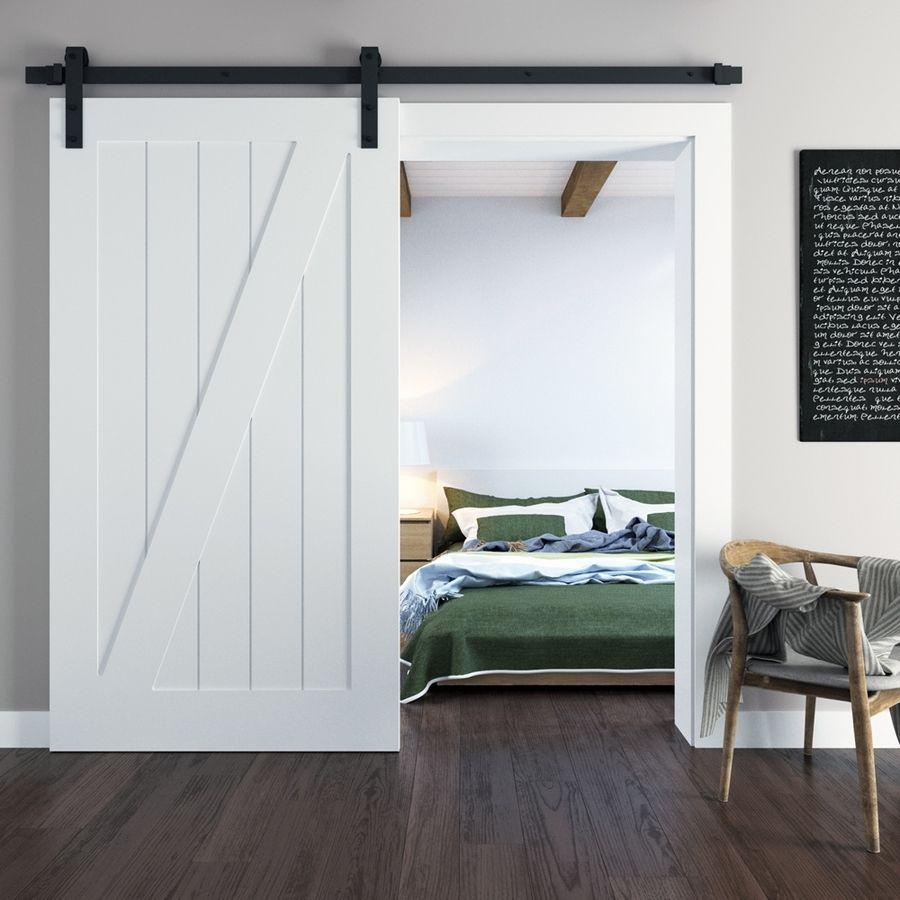 Urban Woodcraft California White Solid Core Z-Frame Pine Barn ...