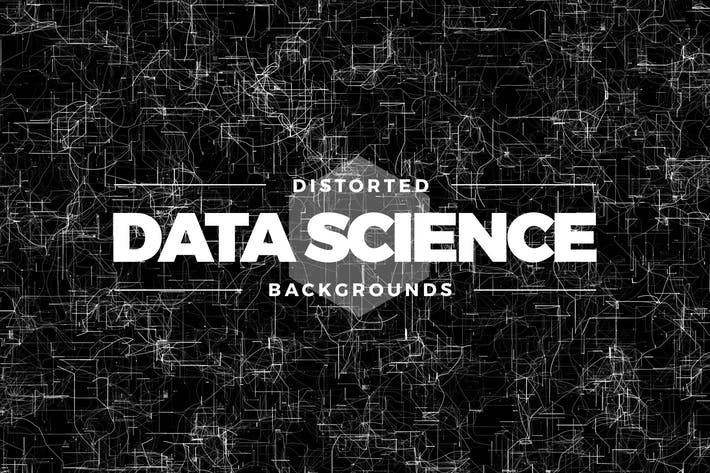 Distorted Data Science Backgrounds by Shemul