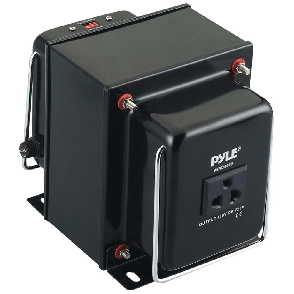 Pyle PVTC320U Step Up /& Down Voltage Converter Transformer w// USB Charging Port