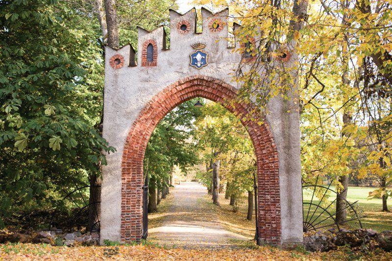 Mustios castle garden in Finland