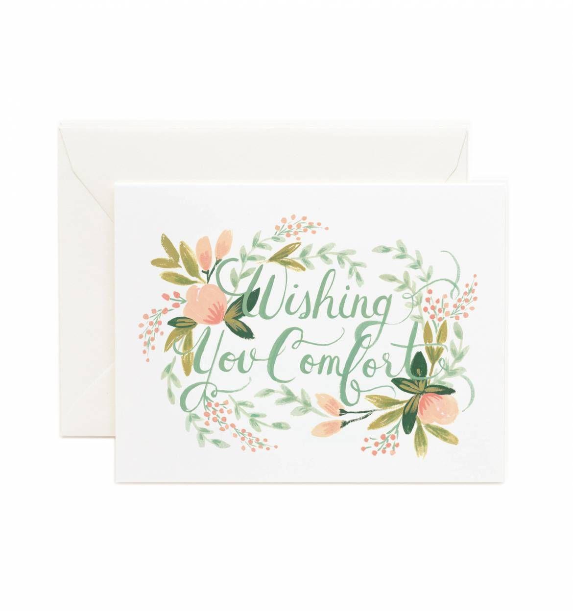 Wishing You Comfort Greeting Card Envelopes