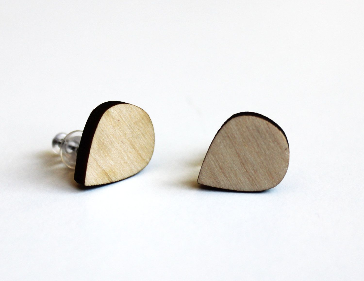 Wooden Earrings Natural Earrings Natural Jewelry Wooden - Edelstenen Den Bosch