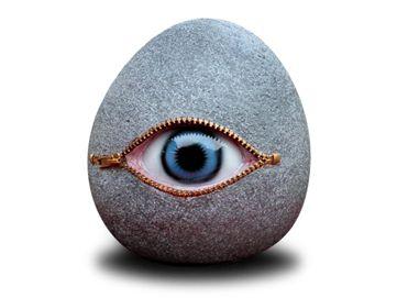 Non Sense Stone with Eye Granite Large by Vivid Arts Image - Garden art