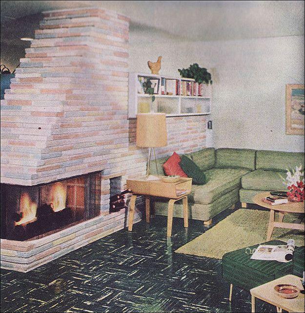 1951 Modern Mid Century Levitt Living Room In 2019