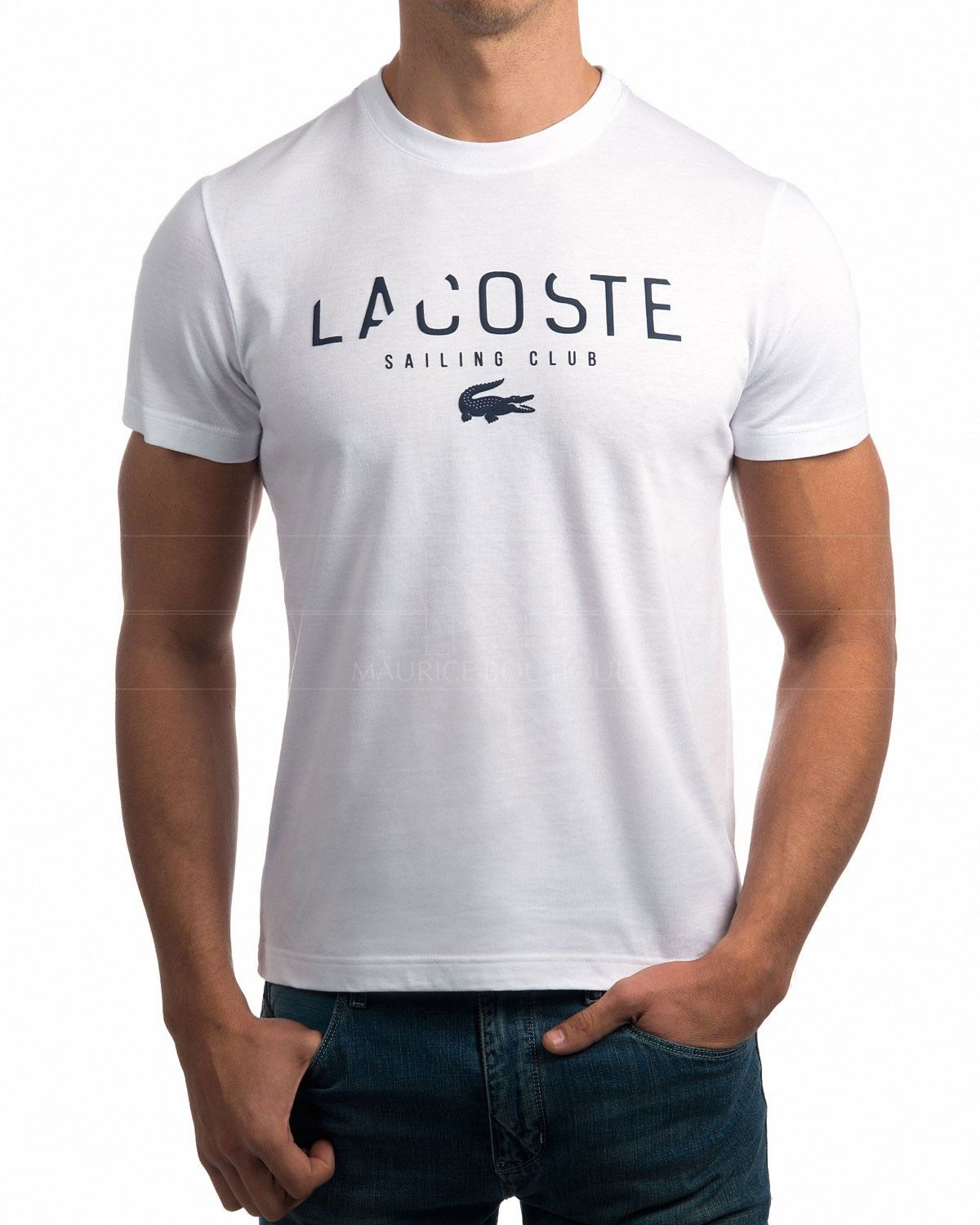 camiseta lacoste blanca club de vela envio gratis t. Black Bedroom Furniture Sets. Home Design Ideas