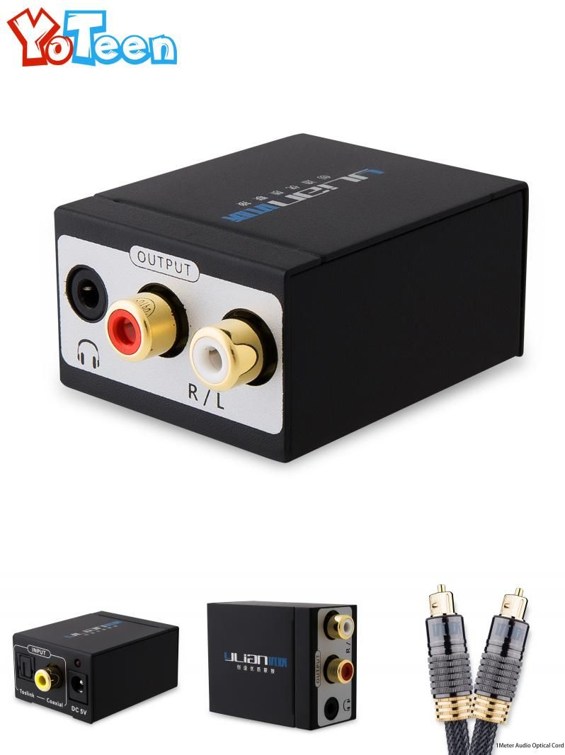 Visit to Buy] TV SPDIF/Coaxial to RCA L/R Headphone Analog Audio ...