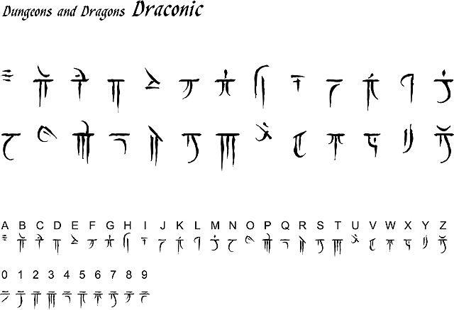 DampD Draconic Script