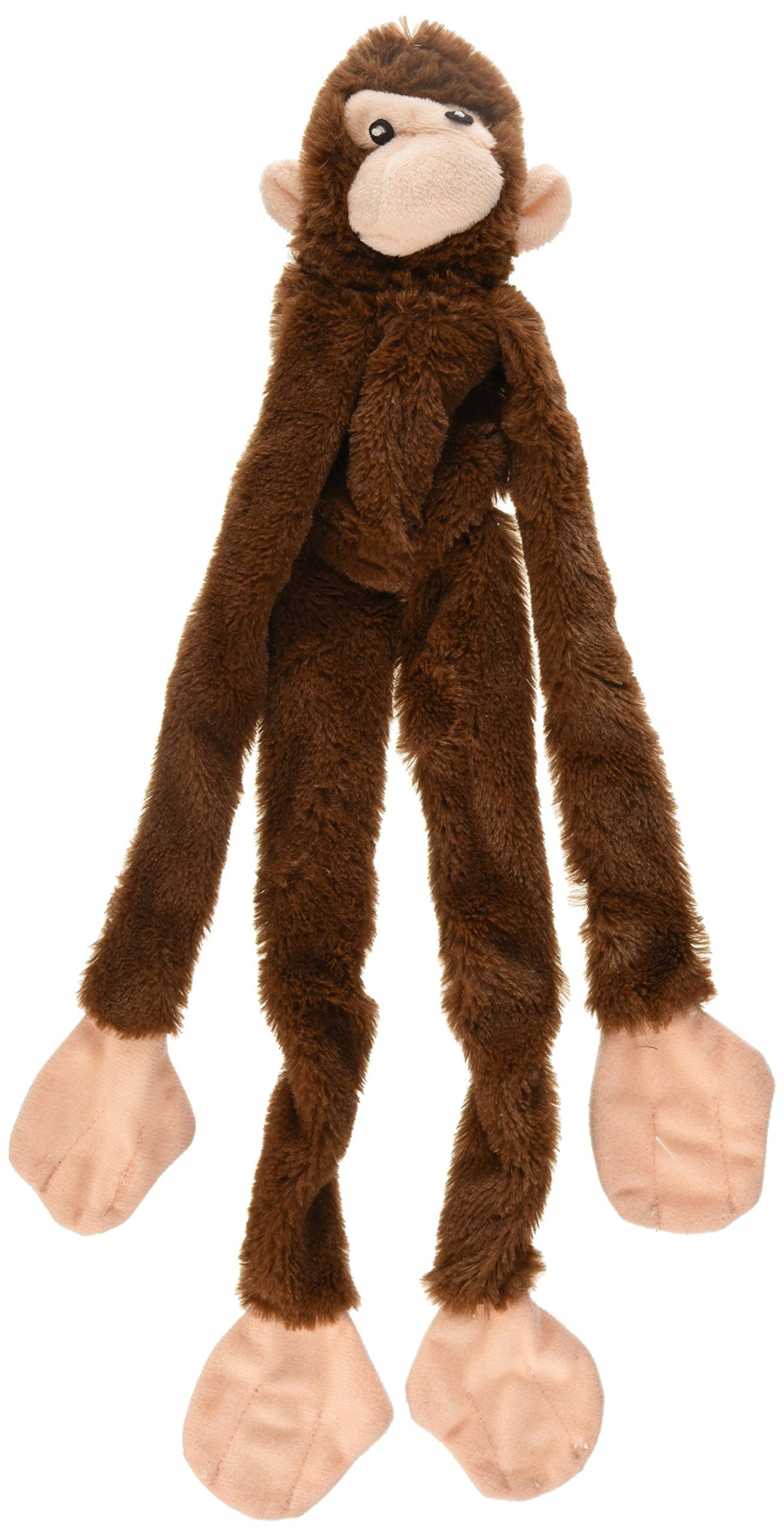 Ethical Plush Skinneeez Monkey Ast 16inch Stuffingless Dog Toy