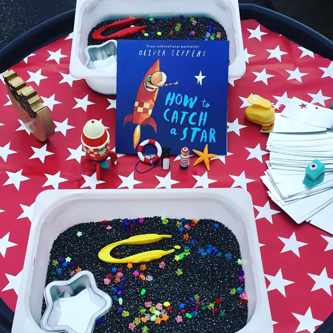 """@eyfs_outdoors on Instagram: """"How to Catch a Star tuff tray for World Book Day"""