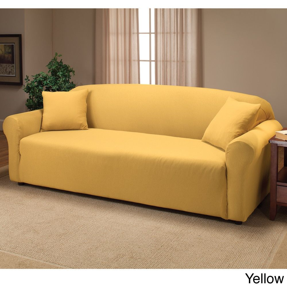 Sanctuary Stretch Jersey Sofa Slipcover Ping The Best Deals On Slipcovers