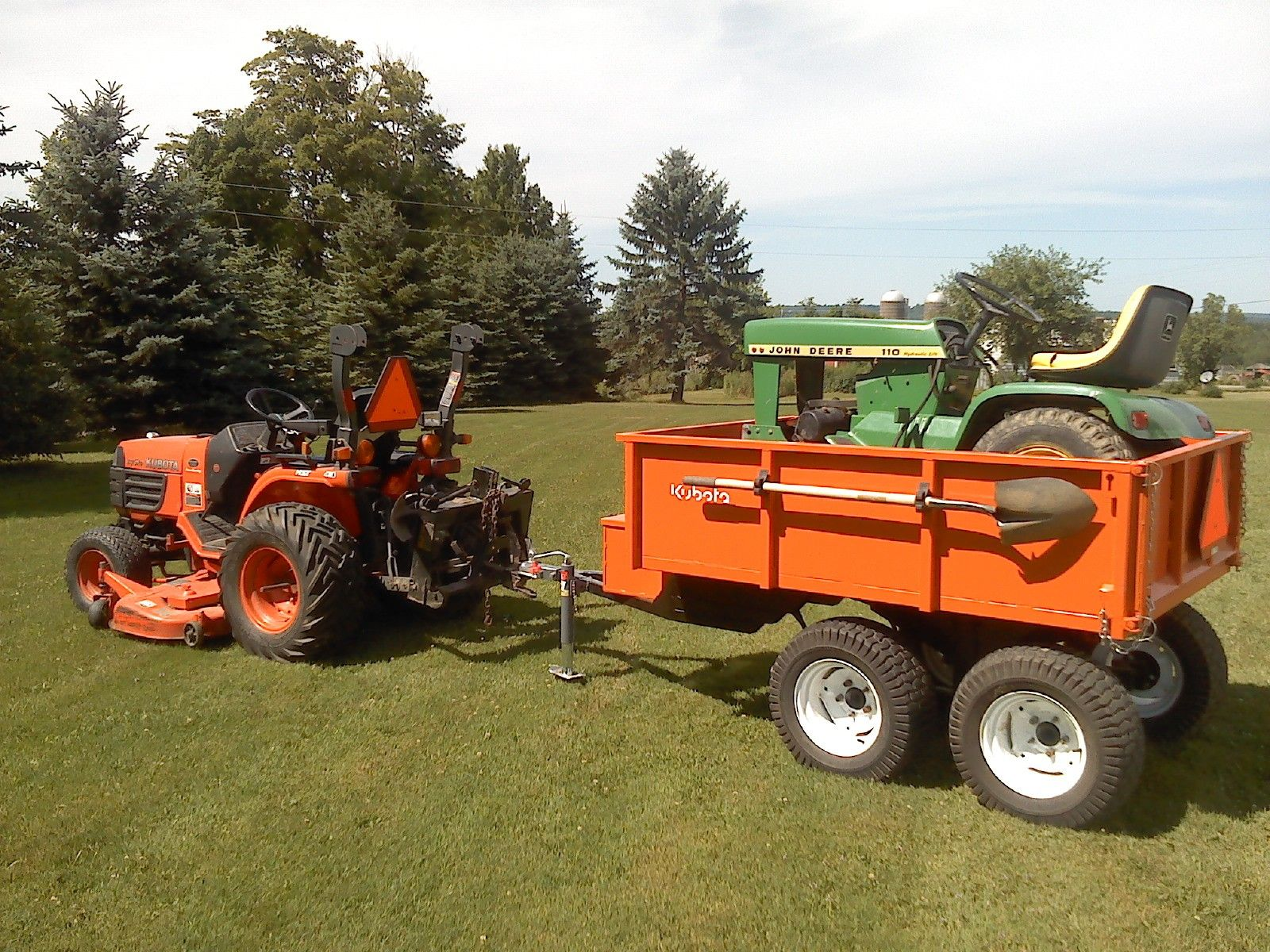 Show home build gas powered mini tractors - Dump Trailer By 600rider Homemade Dump Trailer Constructed From Automotive Hubs A Walking