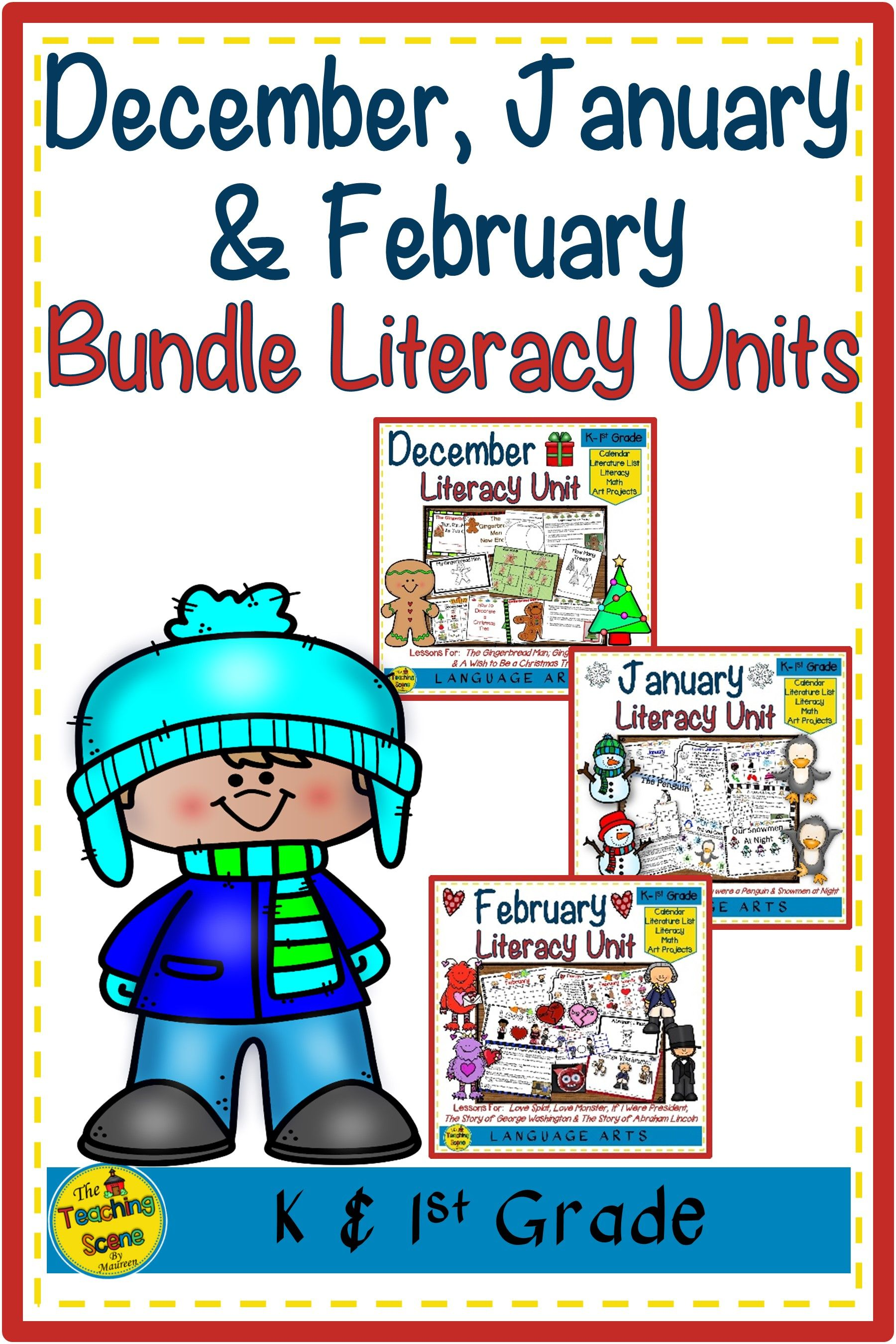 December January Amp February Literacy Units Bundle