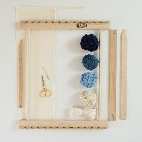 DIY weaving: Beginners Frame Loom Weaving Kit / Everything you by Oake and Ashe - $88 on Etsy