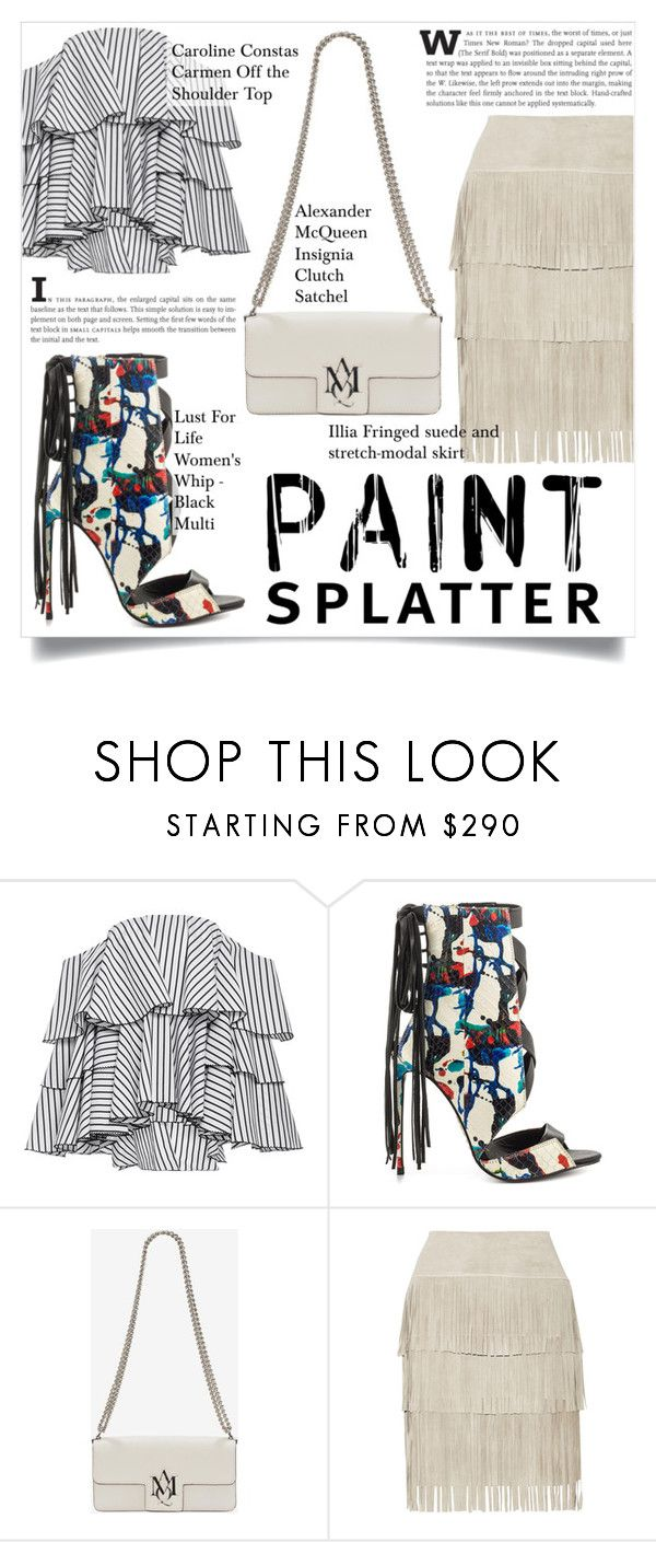 """""""Make a Splash With Paint Splatters"""" by martso ❤ liked on Polyvore featuring Caroline Constas, Lust For Life, Alexander McQueen, Illia, contest, paintsplatter, contestentry and fashionset"""