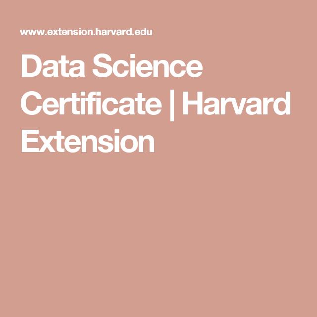 harvard extension science certificate edu