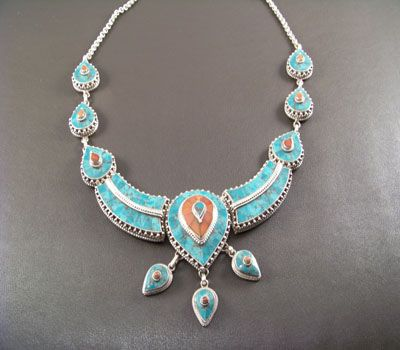 Native American Turquoise jewelry, American Indian Necklaces,Sterling Silver Necklaces, Tibetan jewelry at The Turquoise Mine.com
