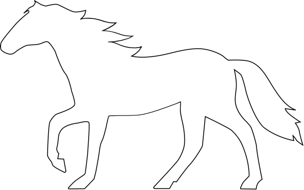 Logos Eje Art Works Clipart Best Clipart Best Horse Outline Clip Art Animal Outline