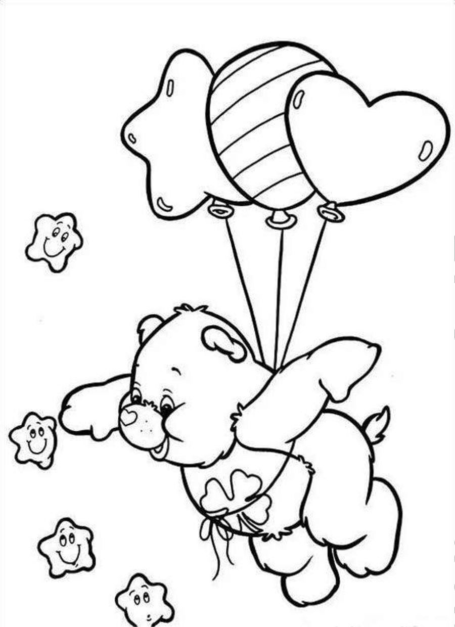 Free Care Bear Coloring Pages
