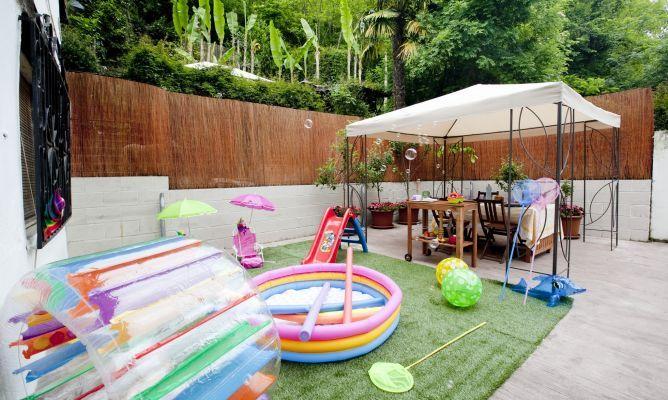 decoracin de jardines con zona de juegos para ms informacin ingresa en http