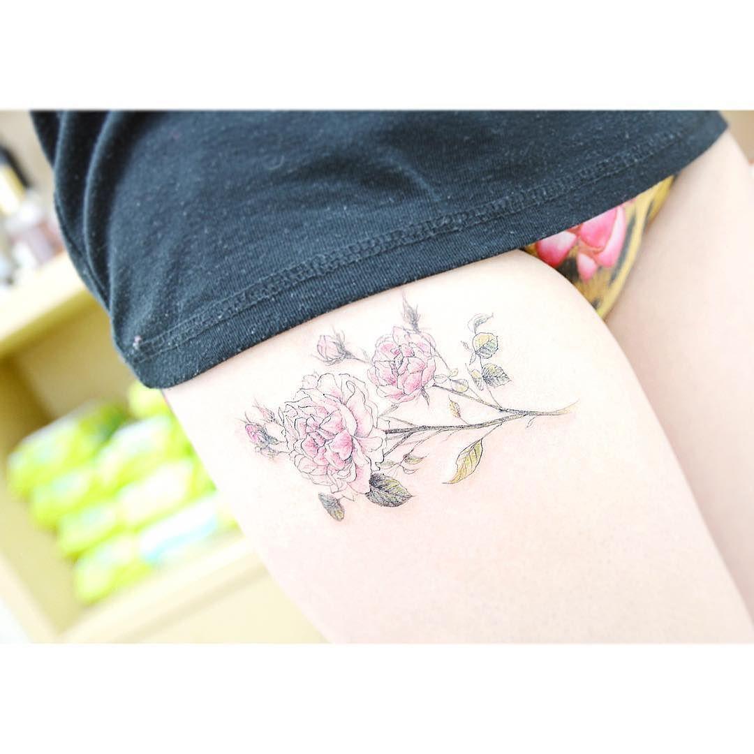 : Peony 작약   Detail . . #tattooistbanul #tattoo #tattooing #peony #peonytattoo #flower #flowertattoo #tattoosupplybell #tattoomagazine #tattooartist #tattoostagram #tattooart #tattooinkspiration #타투이스트바늘 #타투 #꽃 #작약 #꽃타투 by tattooist_banul