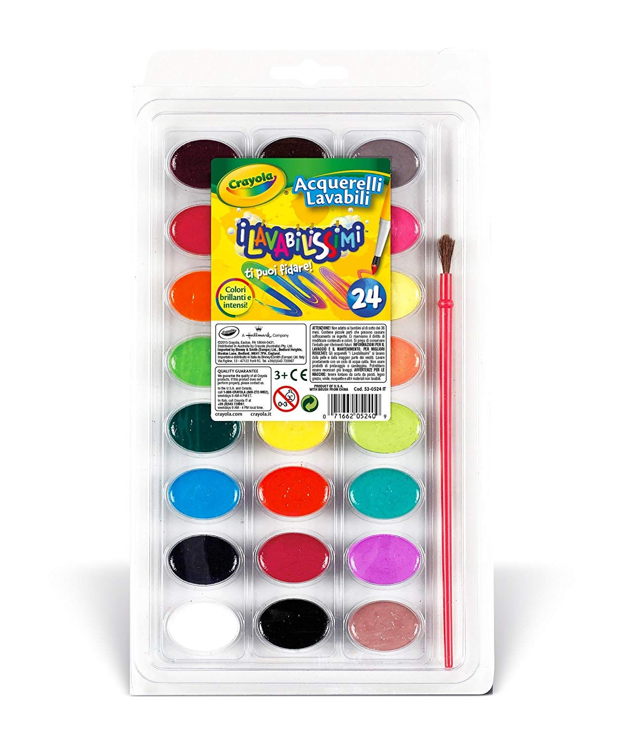 Crayola 24 Watercolors Paints Moon Painting Kids Watercolor