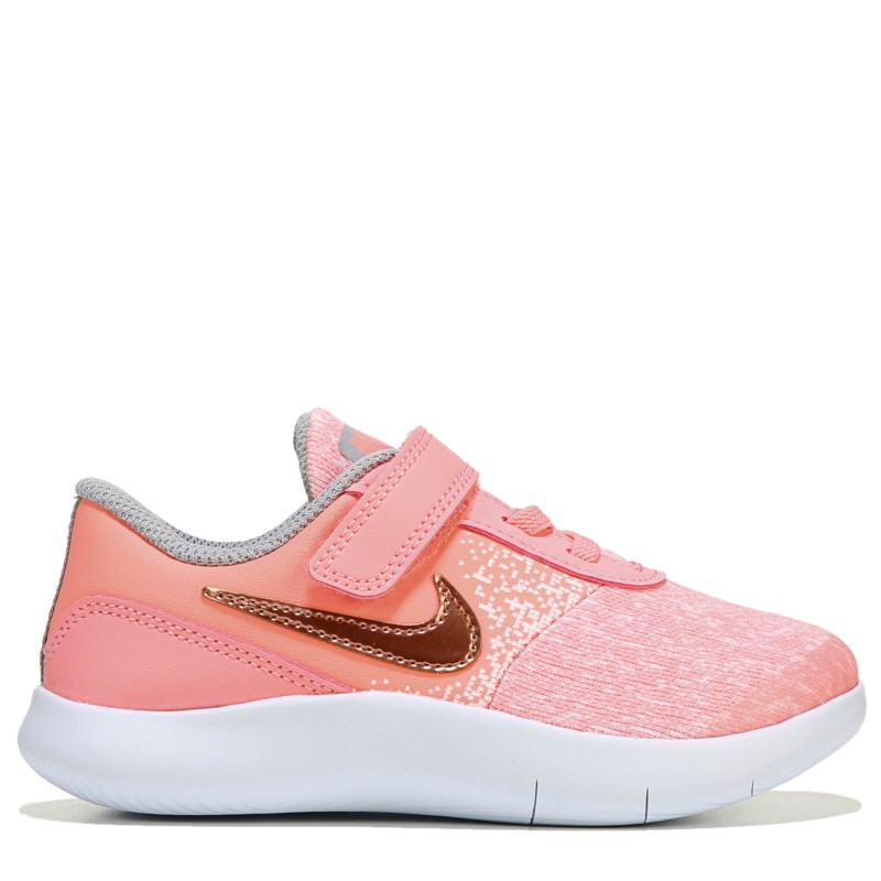 5f12c134e25 Nike Kids  Flex Contact Sneaker Toddler Shoes (Pink Tint Rose Gold ...