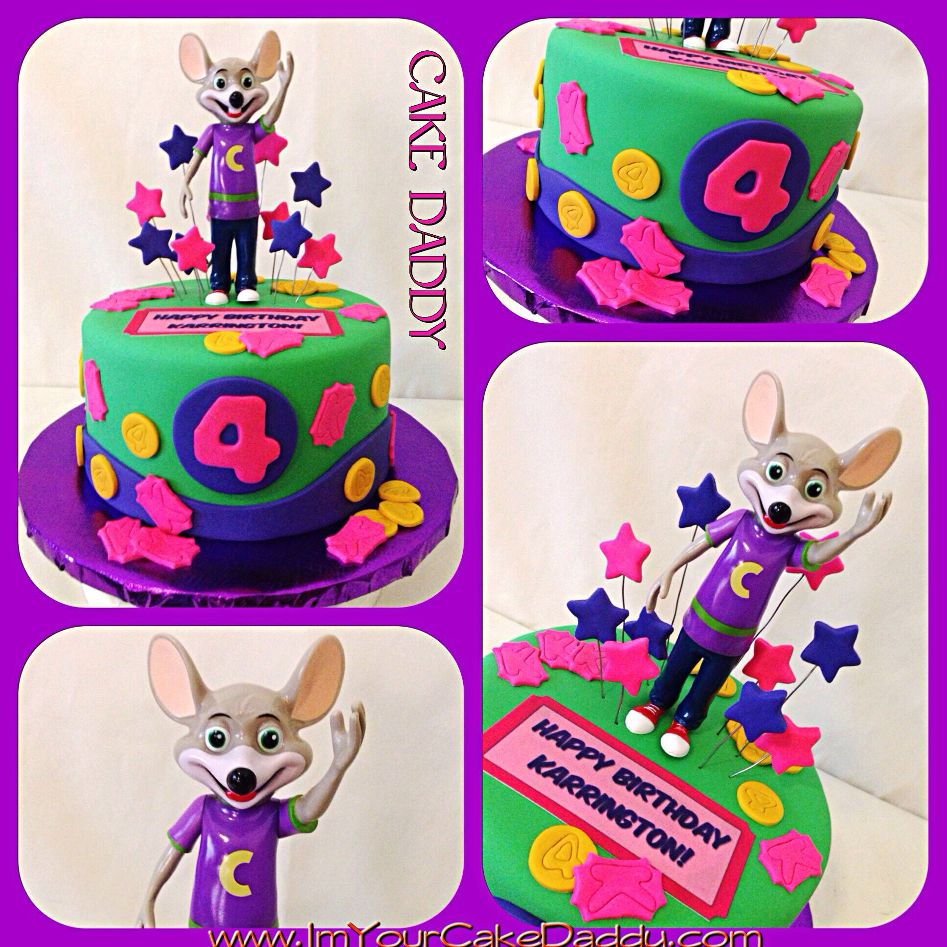Chuck E Cheese Birthday Cake Custom Cakes By Cake Daddy