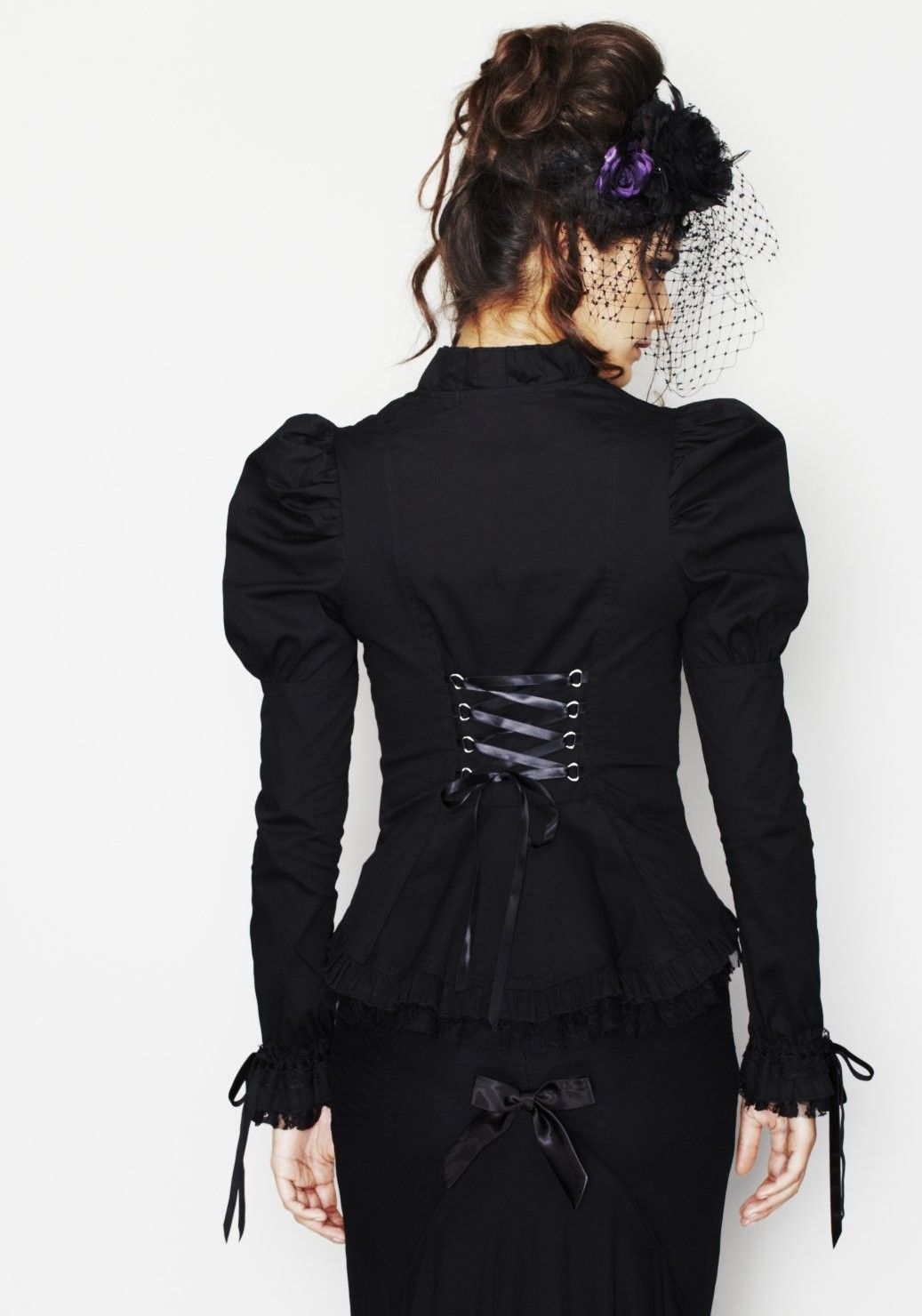 Chemisier Gothique Steampunk Victorien Cardinal   Gothique dress ... 44def43882be